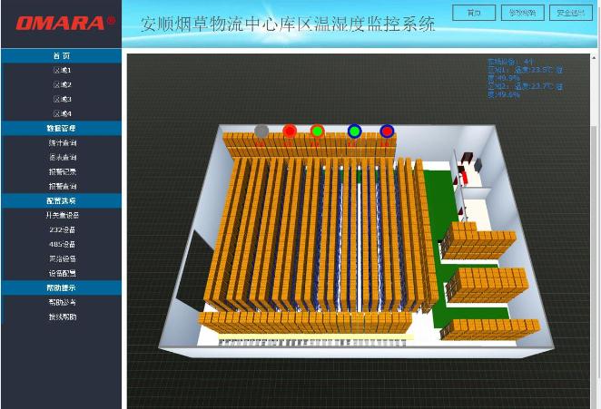 仓库3D画面监控