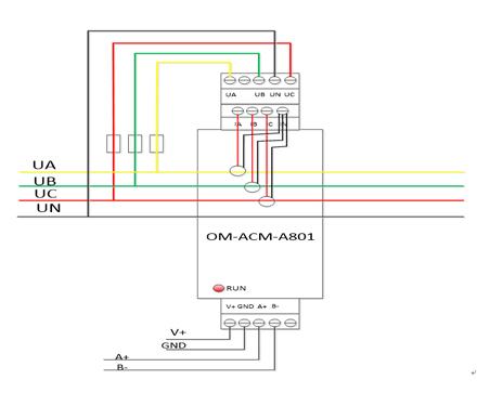 三相电量仪OM-ACM-A801